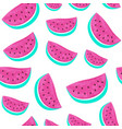 seamless watermelon pattern isolated on white vector image vector image