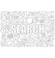 search related from line icon with word vector image vector image