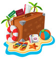 set of travel object vector image