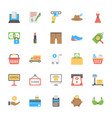 shopping and commerce icon pack vector image