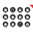 Shopping bags icons on white background vector image vector image