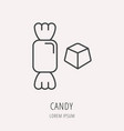 simple logo template candy vector image