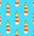Sketch cute lighthouse in vintage style vector image vector image