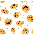 Smiling Halloween pumpkins seamless pattern vector image vector image