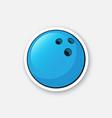 sticker bowling ball vector image