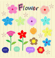 sticker flower cartoon cute color icon vector image vector image
