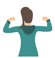 strong powerful woman showing her muscles isolated vector image vector image