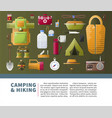 summer camping and hiking poster vector image vector image