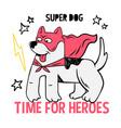 superhero super cute dog in mask vector image vector image
