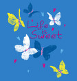 sweet butterfly vector image vector image