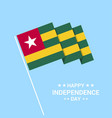 togo independence day typographic design with flag vector image vector image