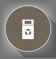 trashcan sign white icon on vector image vector image