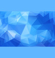 triangle horizontal blue banner background vector image vector image