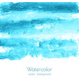 turquoise blue watercolor texture vector image vector image