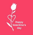 valentines day card with tulip heart vector image vector image