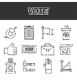 Vote icons set vector image