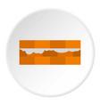 wall bricks icon circle vector image vector image