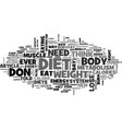 why diets don t work text word cloud concept vector image vector image