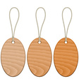 wooden tags vector image vector image