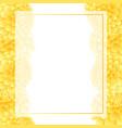 yellow dahlia banner card border vector image vector image
