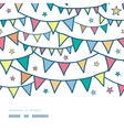 Colorful doodle bunting flags horizontal seamless vector image