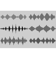 Set of sound and audio music waves vector image