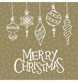 christmas card with balls vector image