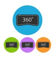360 VR round flat icon vector image