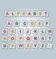 alphabet puzzle vector image vector image