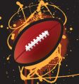 American football splat vector image vector image