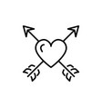 arrow heart icon valentines symbol love sign vector image vector image