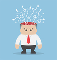 Arrows are coming out of businessman head vector image vector image