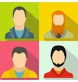 Avatar banners set flat style vector image vector image