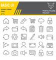 basic ui line icon set web mobile symbols