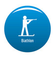 biathlon icon blue vector image