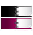 black and pink horizontal notebook vector image vector image