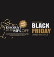 black friday sale ads banner gold and black color vector image vector image