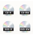 CD-DVD icon vector image