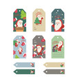 christmas gift tags set with handwritten vector image