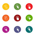 clickthrough icons set flat style vector image vector image