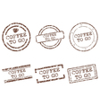 Coffee to go stamps vector image vector image