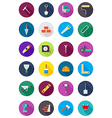 Color round construction icons set vector image vector image