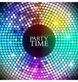 Colorful disco lights vector image vector image