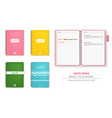 colorful note books realistic 3d detailed vector image vector image