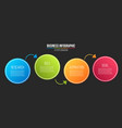 creative of infographic line vector image vector image