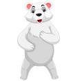 cute polar bear standing vector image
