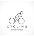cycling logo and text for designs vector image
