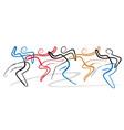 dancing group disco modern dance vector image vector image