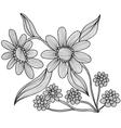 decorative camomiles vector image vector image
