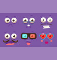 emojis with different emotive feelings set vector image vector image